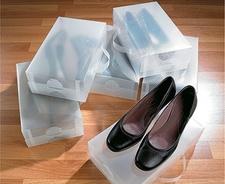 קופסאות שקופות לנעליים