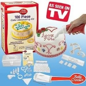 ערכת ה 100 חלקים לעיצוב עוגות Betty Crocker