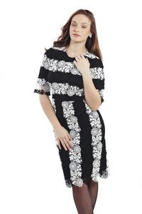 שמלת גפיור שחור לבן