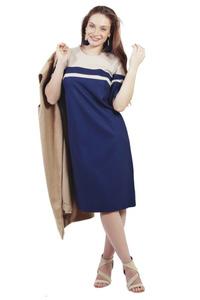 שמלת פסים כחול בז
