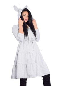 שמלת פוטר קומות אפורה