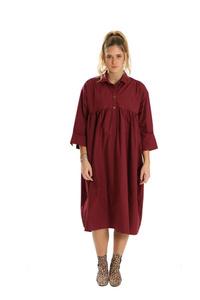 שמלת אוברסייז בורדו
