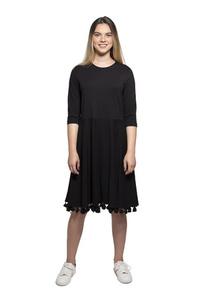 שמלת פונפונים שחורה