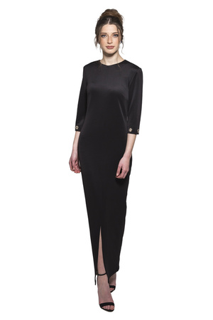 שמלת ניטים שחורה