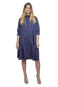 שמלה מכופתרת בגזרת אוברסייז