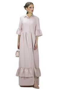 שמלת פפילום ורוד פודרה