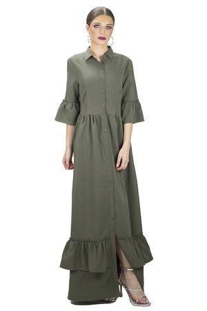 שמלת פפילום ירוק זית