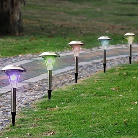 סט רביעייה נורות גן סולארי מחליף צבע