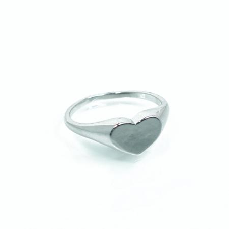 טבעת לב חותם