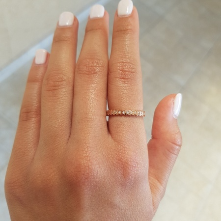 טבעת משולשים רוז גולד