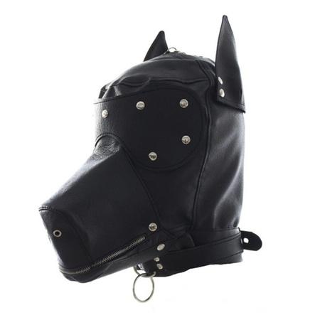 מסיכת ראש כלב דמוי עור