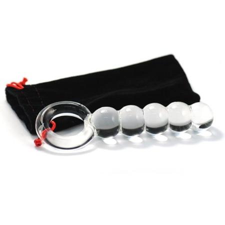 דילדו זכוכית כדורים וטבעת